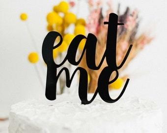 Eat Me Cake Topper, Baby Shower Cake Topper, Wonderland Cake Topper, Wedding Cake Topper, Anniversary Cake Topper, Birthday Cake Topper