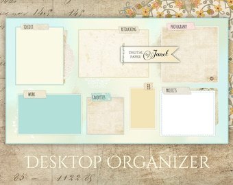 Desktop Organizer Wallpaper - digital image