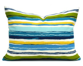 SALE Indoor Outdoor Lumbar Pillow Covers Decorative Pillows Green Pillow Mill Creek Outdoor Sigmund Caribbean