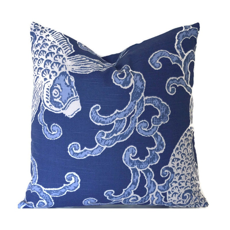 Throw Pillow Cover Measurements : Pillow Covers ANY SIZE Decorative Pillow Cover Blue Pillow