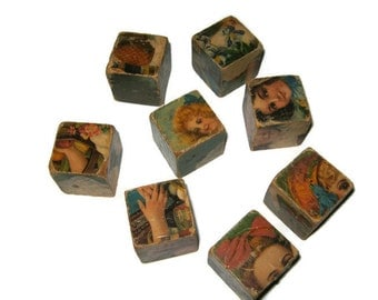 Victorian Play Picture Puzzle Blocks