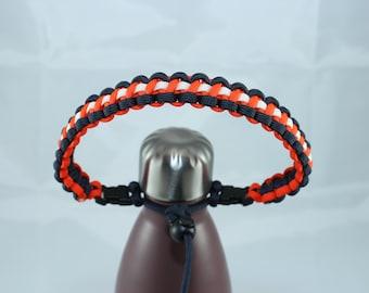 Midnight Blue, Orange & White Color Paracord Handle