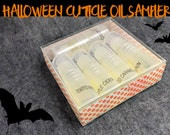 Halloween Cuticle oil sampler pack - vegan, gluten free, handmade