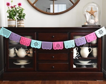 Papel picado banner, Papel picado party ideas, papel picado bridal shower, papel picado weddings