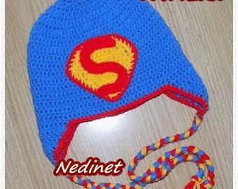 Crochet Pattern, Superman inspiredcrochet hat, crochet pattern baby, superman hat pattern, superhero pattern, halloween. Pdf pattern