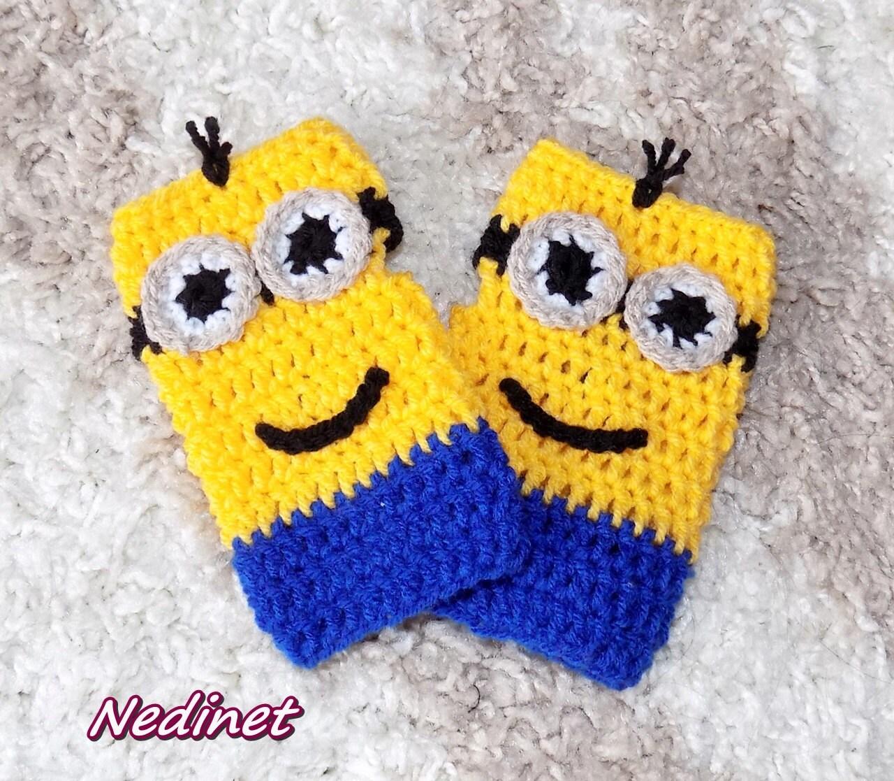 Crochet minion slippers minion mittens crochet pattern crochet this is a digital file bankloansurffo Choice Image