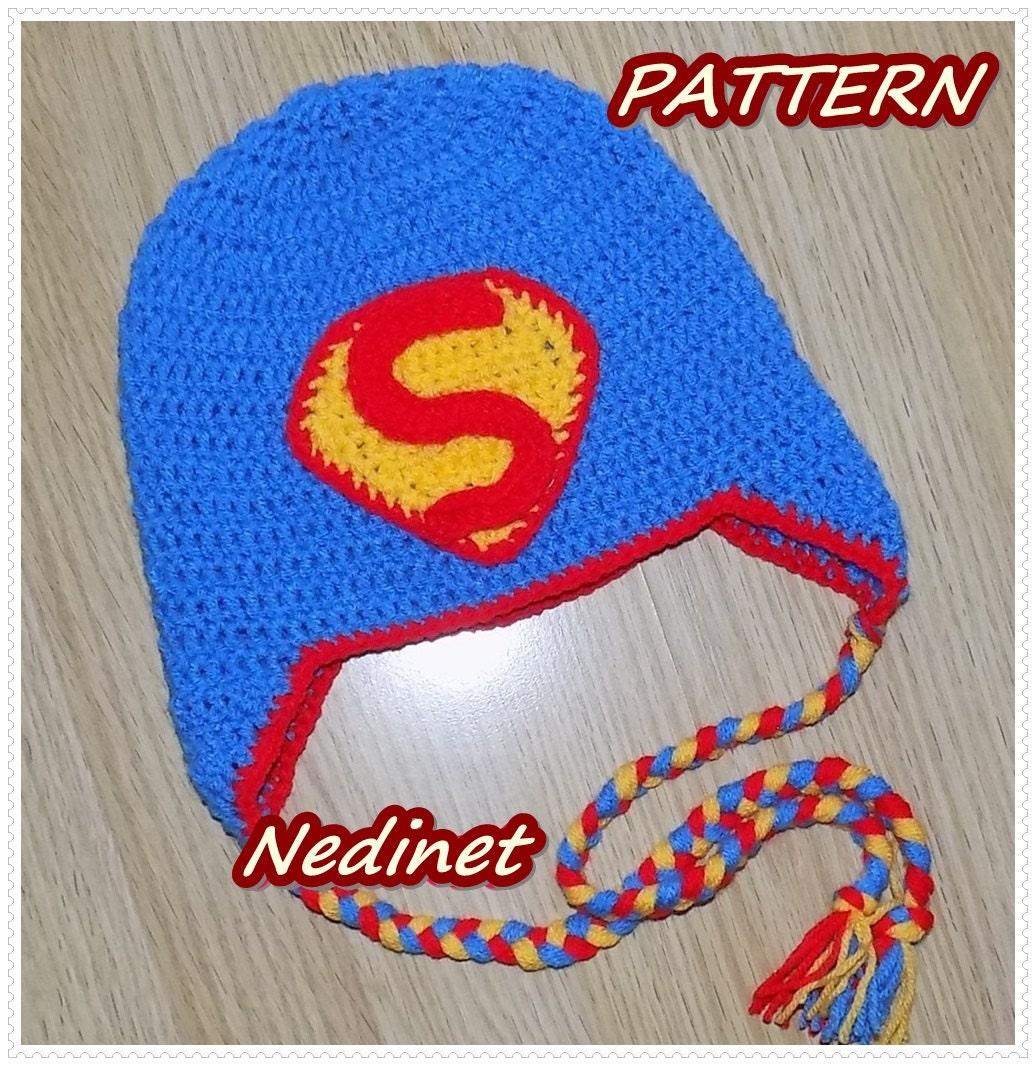 Crochet Pattern Superman crochet hat crochet pattern baby