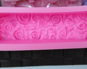 Silicone Soap Mold,Candle Mold, mold, silicone mold, candle mold flower with leaf pattern loaf mold