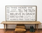 In this Home Family Rules Sign