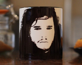 John Snow, Kit Harrington,  Game of Thrones, GOT,  Winter Is Coming, Spooks, Game of Thrones Gift, Got Gift, Horror, Portrait cup