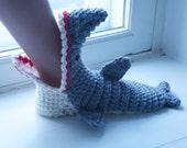 100% MERINO Shark Slipper Socks, WOMEN Sizes