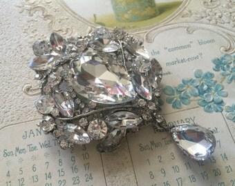 Victorian pearls and rhinestone crystals wedding bridal bridesmaids brooch pin, crystals brooch, wedding brooch, bridal brooch, jewelry