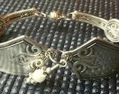 Antique Silver Plated Spoon Bracelet