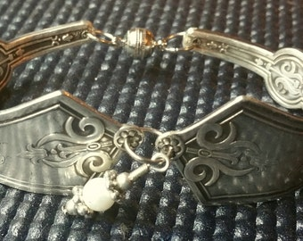 Antique Silver Plated Spoon Bracelet