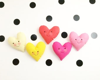 Ombre choice stuffed fabric smiley heart(s) wall decor