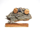 Wood Cufflinks, wood tie clip, set wood tie clip wooden cufflinks and wooden tie clip groomsmen gift fathers day birthday gift