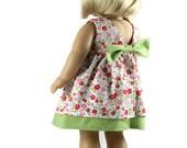 "18 inch Doll Dress, AG doll dress, American Girl clothes, AG Doll clothing , tea dress, handmade fits 18"" American Girl Doll"
