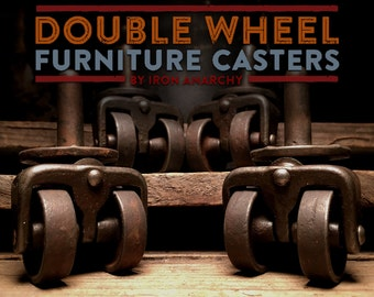 Vintage Casters Industrial Casters Coffee Table Casters