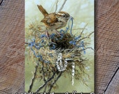 ACEO Bird Cards - ACEO Trading Cards - Miniature Bird Prints - Wren Bird Print - Wren Print - Wildlife ACEO Cards