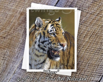 Wildlife Note Cards - Tiger Note Cards - Tiger Prints - Animal Note Cards