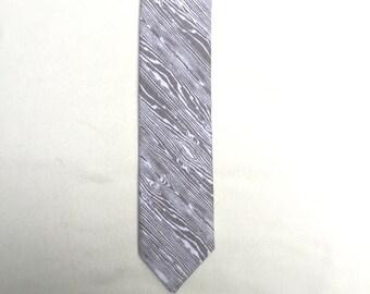 Grey Wood Grain Neck Tie