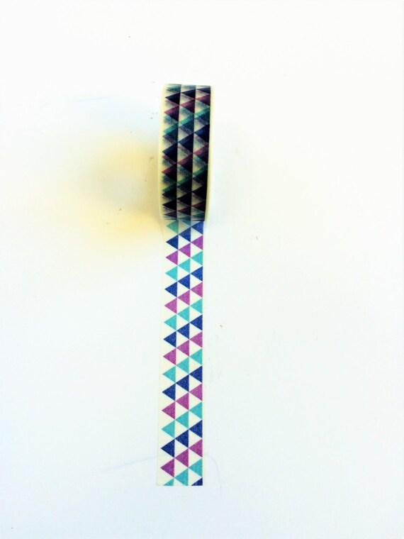 Washi tape blue purple geometric by littledutchshop on etsy for Geometric washi tape designs