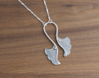 Double Ginkgo Necklace