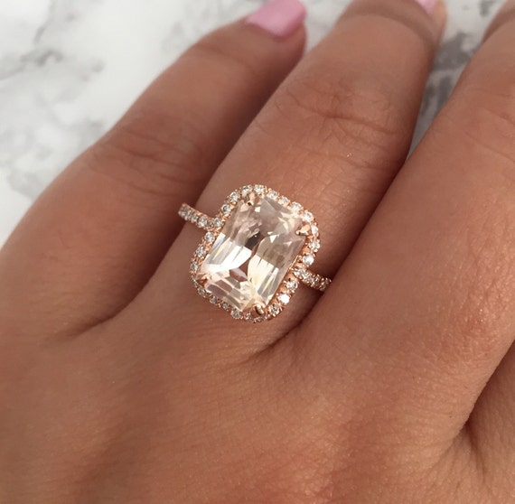 ON HOLD Radiant Cut Peach Champagne Sapphire By Studio1040