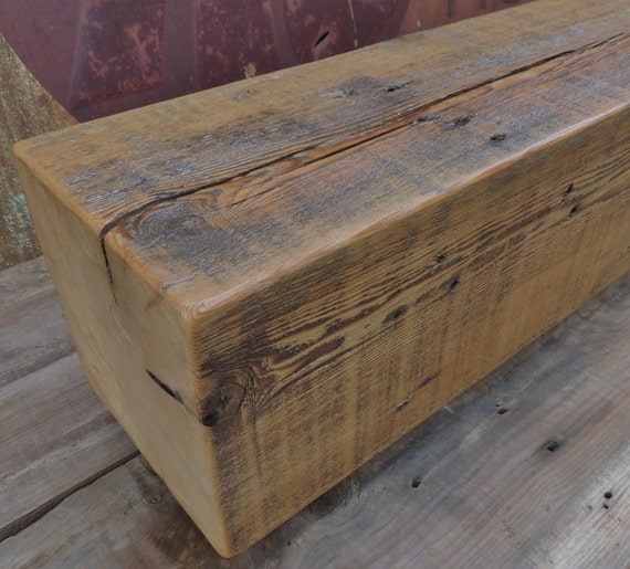 Reclaimed Wood Mantel Rustic Pine Fireplace Mantel Or Mantle