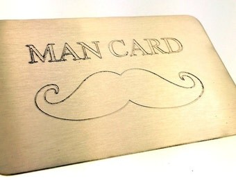 Wallet Insert Brass Card - Personalized Hand Stamped Metal - Gift Husband Boyfriend 8 Eight Year Anniversary, Anniversary