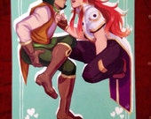 """Guy/Luke Tales of the Abyss 11""""x17"""" Poster"""