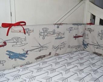 Airplane Crib Bumper