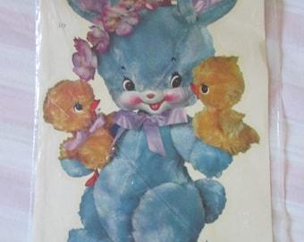 Vintage Applique Pooh blue 1950-60