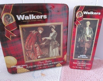 Cookies Walkers Vintage 2 metal boxes / Vintage 2 metal boxes cookies Walkers