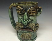 40oz schnoz n mustache stein - shipping included