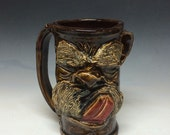 40oz schnoz n mustasche beer mug- includes shipping