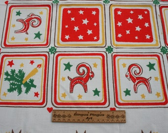 "Vintage Swedish Square Table Cloth, Scandinavian Christmas Table Cloth 50"" x50"", Kitchen Decoration Home Decor"