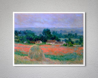 Haystack at Giverny  by Claude Monet - Poster Paper, Sticker or Canvas Print