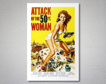 Attack of the 50ft. Woman  Movie Poster - Poster Paper, Sticker or Canvas Print