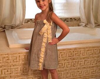 Toddler Towel Wrap - Childs Towel Wrap -  Birthday Gift  -  Childs Bath Towel Wrap -  Toddler Bath Towel Wrap -  Spa Wrap -  Towel Wrap