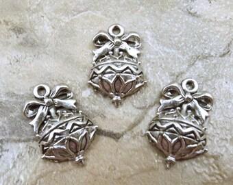 Set of Three (3) Pewter Christmas Tree Ornament Charms - 5235