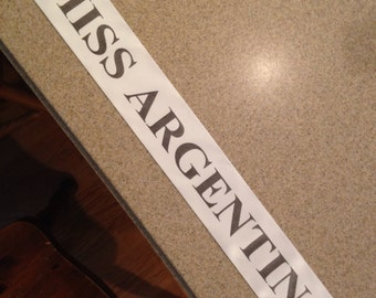 Miss Behave, Miss Chief, Custom sash , Halloween Costume, Halloween Sash, Prom Queen,  Beauty Queen, Any Color any wording