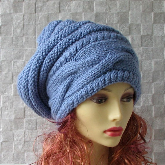 Knitting Pattern For Dreadlock Hat : Items similar to Dreadlock Accessories, Hat For Dreads, Large Baggy Hand Knit...