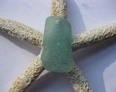 Rare AQUA sea glass supplies beach glass bulk  sea glass drilled beach glass  drilled JQ