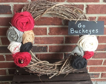 Ohio State Buckeyes Wreath