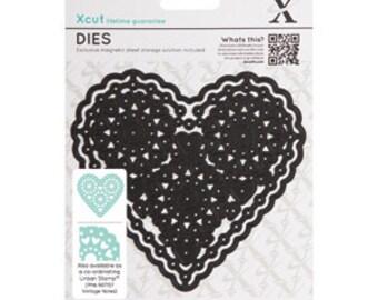 Xcut Die Vintage Notes-Filigree Heart