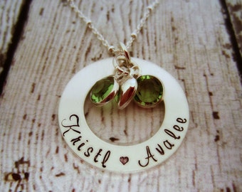 Personalized Twins Birthstone Necklace, Mother of Twins Jewelry, Gift for Mom of Twins, Mom Jewelry, Mommy Necklace, Mothers Necklace