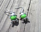 Organic Frog Earrings, Vegan Jewelry, Vegan, Organic Earrings, Eco-Friendly Jewelry, Frog Earrings, Vegetarian Gifts, Vegan Gifts