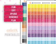ECLP MDN headers Printable Planner Stickers Erin Condren Happy Planner Inkwell Plum Paper Instant Digital Download