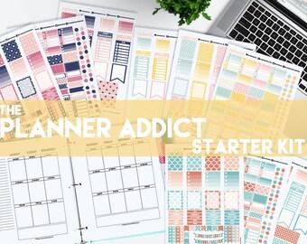Planner Starter Kit Printable Planner Stickers Erin Condren ECLP Happy Planner Instant Digital Download